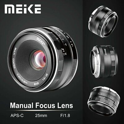 Meike 25mm F1.8 Wide Angle Manual Lens APS-C For Panasonic Olympus M4/3 Mount