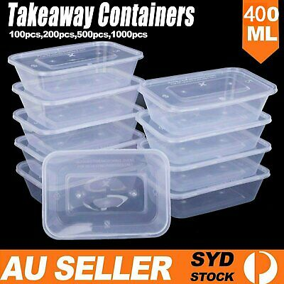 750ml Take away Containers Takeaway Food Plastic Lids Bulk 100 200 500 1000 PCS