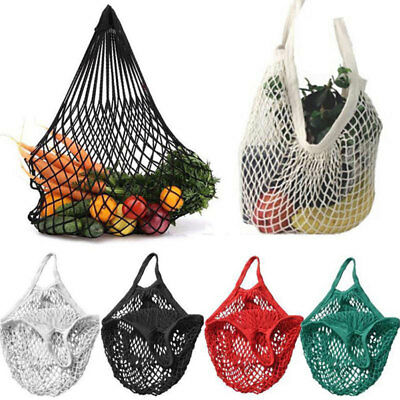 1pc Reusable Shopping Grocery Bag Fruit Vegetable Storage Mesh Bag Pouch Tote