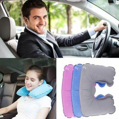 Soft Inflatable U Shaped Travel Neck Pillow Flight Car Head Rest Support Cushion