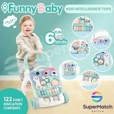 Funny Baby Walker Toddler Walker Kids Push Intelligence Learning Activity Toys