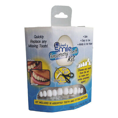 Smile Temporary Tooth Kit 3 Shades of Temporary Teeth Bead Replacement Comestic