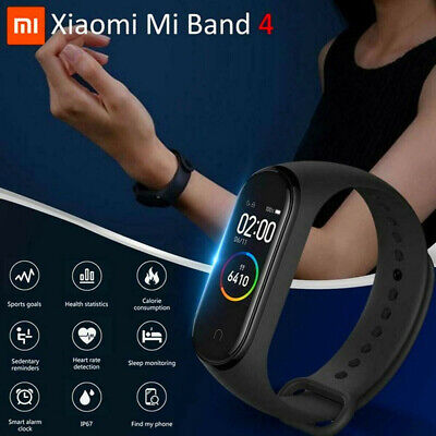 XIAOMI MI BAND4 bluetooth5.0 SMARTWATCH BRACCIALETTO INTELLIGENTE OROLOGIO SPORT