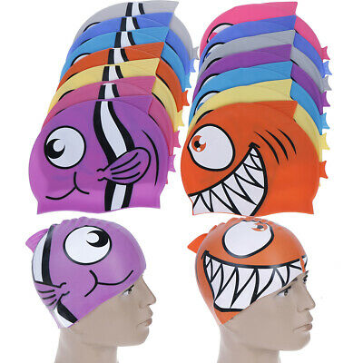 1XProworks Swimming Cap Waterproof Silicone Swim Pool Hat for Kids Boys Girls ~!