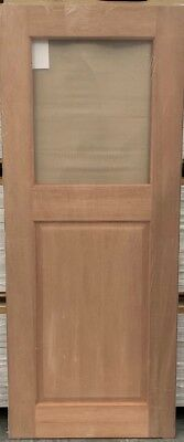 External/Internal Laundry Timber Door With Clear Glass