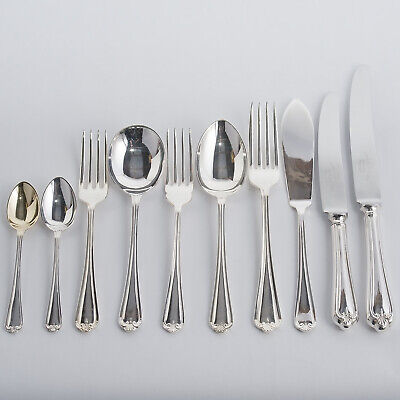 JESMOND Pattern Cutlery Set 87 Pc Silver Plated EP Sheffield