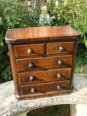 Superb Victorian Large Apprentice Piece Miniature Chest Of Drawers In Mahogany