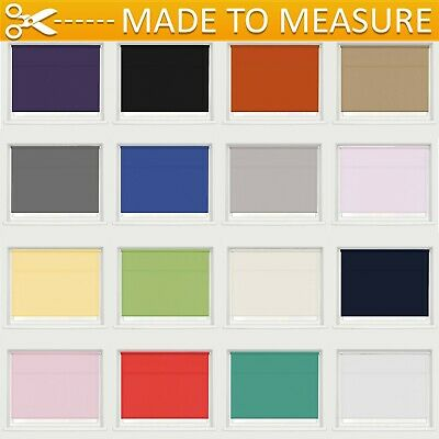 Made To Measure Straight Edge Plain Fabric Custom Roller Blinds High Quality