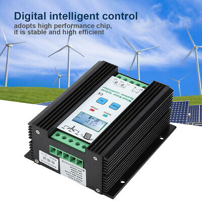 12V Wind Solar Hybrid Charge Controller PWM Charging Controller LCD Display NEW