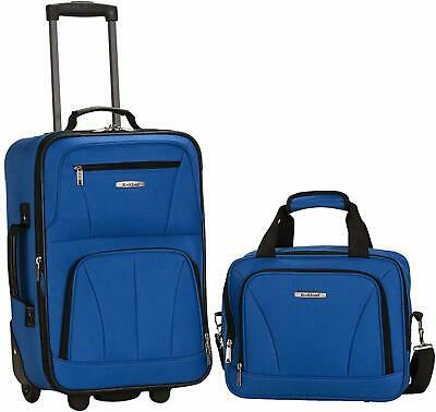 Rockland Luggage 2 Piece Set, Blue, One Size Standard Packaging