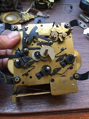 Hamilton Westminster Chime Bracket Clock Movement Wound Tight