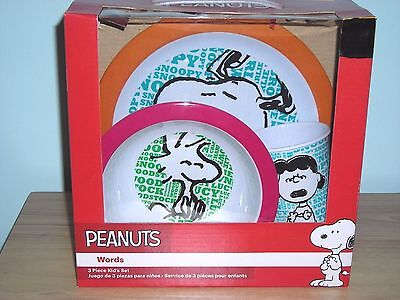 SNOOPY AND THE Peanuts Gang Vintage 1968 China Set Cup Bowl
