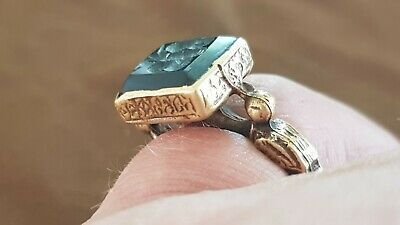 Byzantine/Post Medieval stunning Gold gilded ring. Please read description. L13