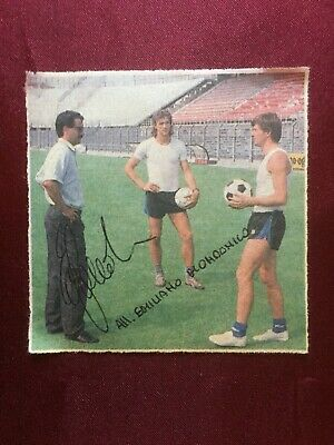 Autografo originale EMILIANO MONDONICO-Atalanta 87/88-defunto-Napoli-IN PERSON