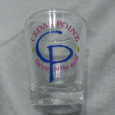 "Vintage Cedar Point ""On Top Of The World"" Theme Park Shot Glass"