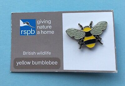 RSPB British Wildlife YELLOW BUMBLEBEE Giving Nature A Home GNAH Pin Badge NR1