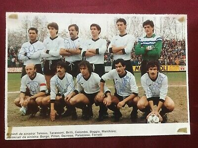6 Autografi originali LA SPEZIA CALCIO 85/86-Telesio/Brilli-RARISSIMO!-IN PERSON