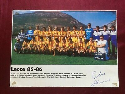 2 Autografi originali US LECCE 85/86-Palese+Luperto-RARISSIMO!-IN PERSON
