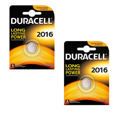 2 x DURACELL 2016 BATTERY LITHIUM 3V BUTTON COIN CELL CR2016 ECR2016