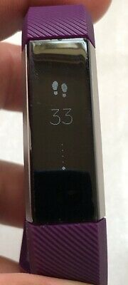 Fitbit Alta Activity Tracker Average Condition With Large Brand New Purple Strap