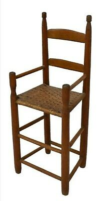 19Th C Primitive American Texas Antique Child's Highchair rustic wood high chair