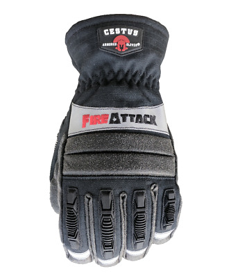 Cestus Fire Attack Firefighting Gloves - Black