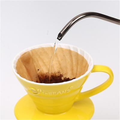 40x Coffee Filter Papers Unbleached Original Wooden Drip Cone Shape Coffee Tools