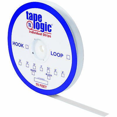"Tape Logic Individual Tape Strips Hook 3/4"" x 75' White 1/Case HLT111"