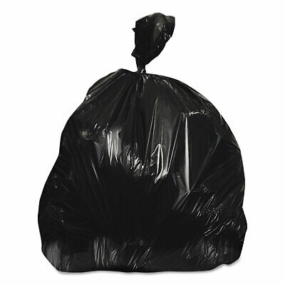 Heritage High-Density Coreless Can Liners 20-30 gal 10 mic 30 x 37 Black 500