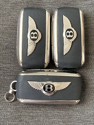 Lot Of 3 Bentley Continental Oem Flip Key Remote Fob