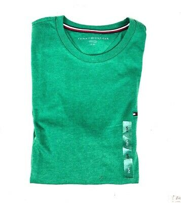Tommy Hilfiger T-Shirt Mens Crew Neck Tee Classic Fit Short Sleeve Green Size S