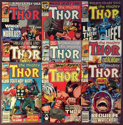 Thor #422 to #431 (#430 missing) Marvel 1990. 9 x Bronze Age Issues.