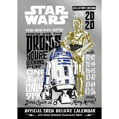 Star Wars Classic Deluxe 2020 Calendar ~ A3 Wall ~ Pre-Order ~ 9781838542771