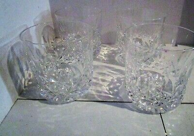 Set Of 4 Waterford Crystal Lismore Old Fashioned Glasses - Tumblers