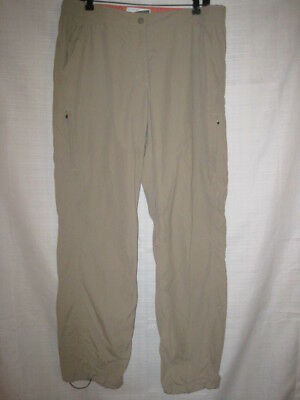 LL Bean Insect Shield Insect Repellent Hiking Pants Misses Teen Girls 16 tan
