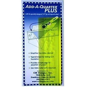 """ADD A QUARTER PLUS 2""""x 6"""" RULER - YELLOW - CM DESIGNS - patchwork quilting BNEW"""