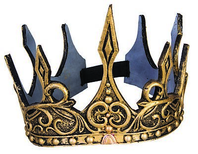 GOLD ADULT ROYAL KING CROWN Queen Prince Hat Cap Medieval Game Of Thrones Foam