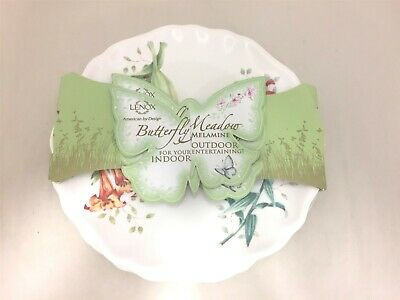 Lenox Butterfly Meadow Melamine Accent Plates, 9 inches, White - 856372