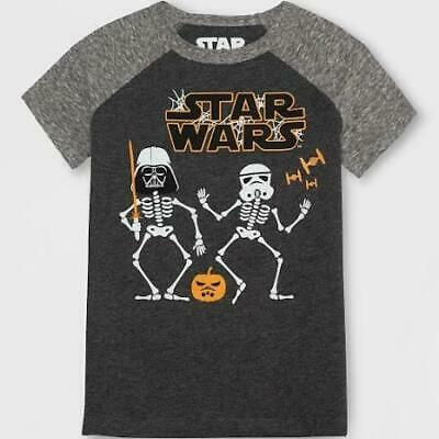 NEW Star Wars 2T Halloween T Shirt Top Darth Vader Storm Trooper Skeletons NWT