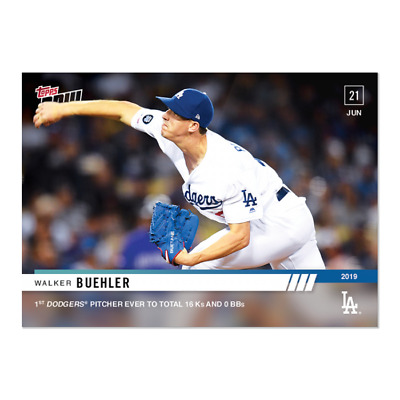 2019 Topps NOW Walker Buehler #414 ~ LA Dodgers ~ Only 393 printed!