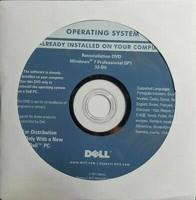 Dell Windows 7 Professional SP1 32-Bit only $7.99