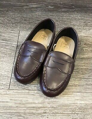 Janie & Jack Leather Loafers | Boys | Toddler Size 7 | Brown | Orig. $69