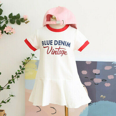 Toddler Kids Baby Girls Short Sleeve Summer Short Sleeve Princess Dresses Dress