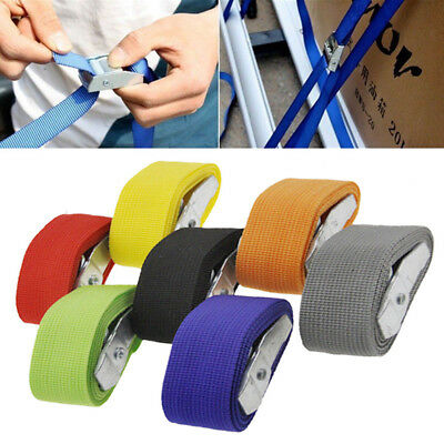 1/2/3/4/5m Tie Down Strap Strong Ratchet Belt Metal Buckle Luggage Cargo Lashing