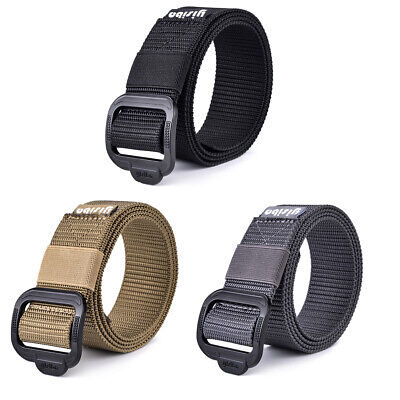 Mens Military Belt Tactical Army Hunting Outdoor Waistband Nylon Training Belt