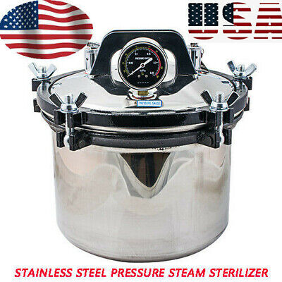 USA 8L Medical Dental Sterilization Pressure Steam Autoclave Sterilizer Machine