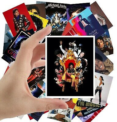 """MICHAEL JACKSON Large Stickers (24 stickers 2.5""""x3.5"""" each) Photo Poster S-5018"""