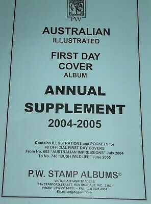 PW Illustrated First Day Cover FDC Album Annual Supplement - 2004-05