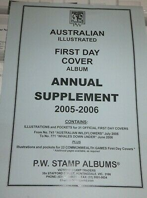 PW Illustrated First Day Cover FDC Album Annual Supplement - 2005-06