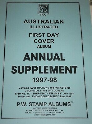 PW Illustrated First Day Cover FDC Album Annual Supplement - 1997-98